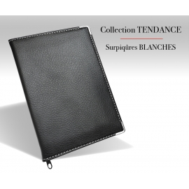 Etui carte grise cuir vierge Collection Tendance