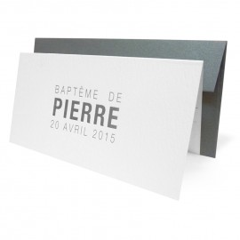 Faire-part Invitation Bapteme MODERNE