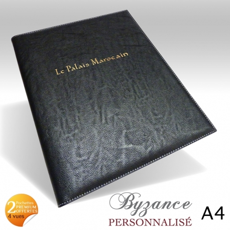 protege menu restaurant collection byzance a4 personnalise. Black Bedroom Furniture Sets. Home Design Ideas