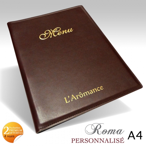 protege menu restaurant collection roma a4 personnalise. Black Bedroom Furniture Sets. Home Design Ideas