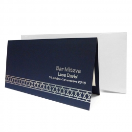 Faire-part Invitation Bar Mitzvah ETOILES